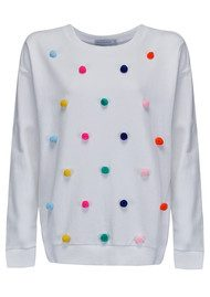 SOUTH PARADE Alexa Pom Pom Sweatshirt - White
