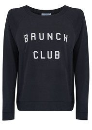 SOUTH PARADE Candy Brunch Club Jersey Top - Smoke Black