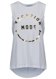 SOUTH PARADE Whitney Vacation Mode Tank - White & Gold Foil