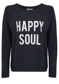 SOUTH PARADE Candy Happy Soul Jersey Top - Smoke Black