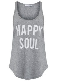 SOUTH PARADE Bella Happy Soul Tank - Heather Grey