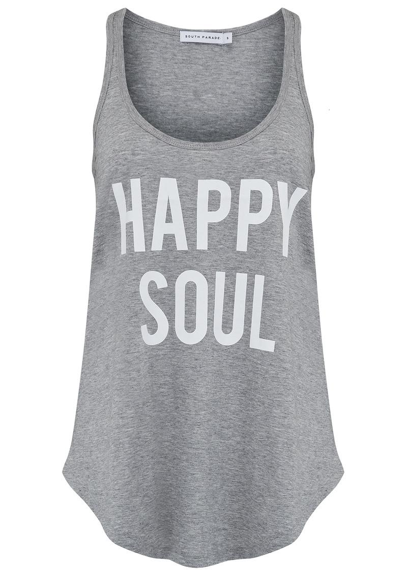 SOUTH PARADE Bella Happy Soul Tank - Heather Grey main image