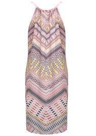 CHARLOTTE SPARRE Tie Strap Silk Printed Dress - Pastel