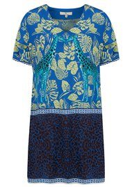 CHARLOTTE SPARRE Silk Printed Super Dress - Cobalt