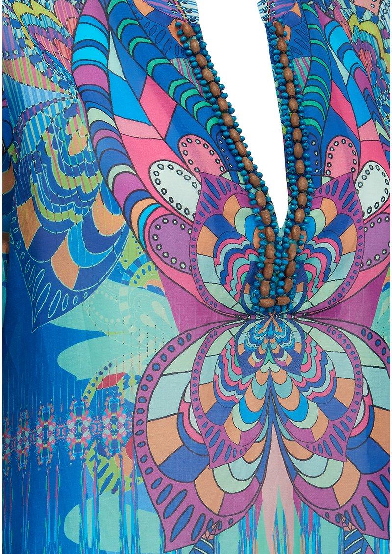 Hale Bob Keiko Printed Kaftan - Blue main image