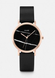 CLUSE La Roche Petite Rose Gold Watch - Black & Black
