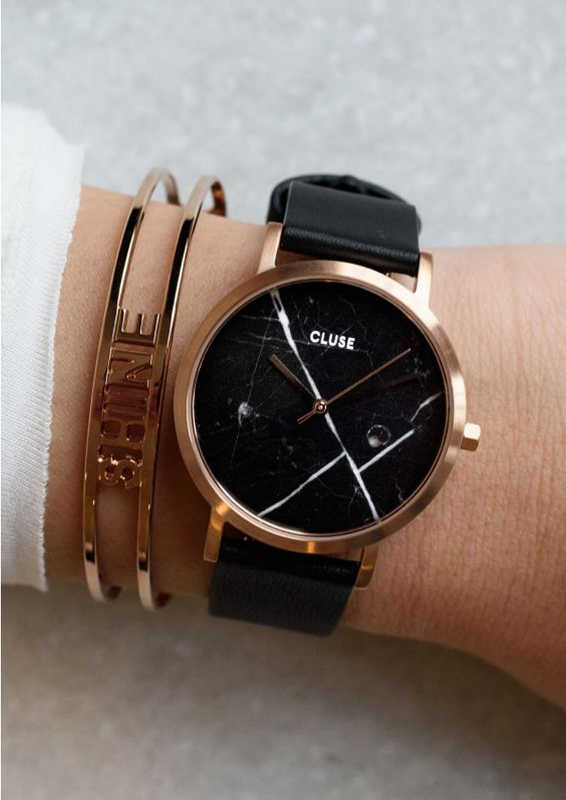 CLUSE La Roche Petite Rose Gold Watch - Black & Black main image