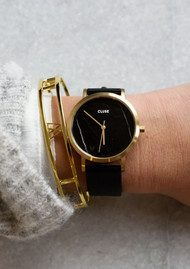 La Roche Petite Gold Watch - Black & Black