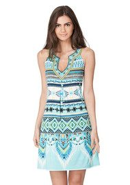 Hale Bob Ayako Beaded Dress - Blue