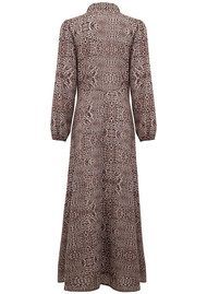 Lily and Lionel Kitty Leopard 70s Maxi Dress - Neutral
