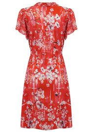 Lily and Lionel Winnie Button Down Midi Dress - Ruby Red
