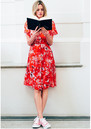 Winnie Button Down Midi Dress - Ruby Red additional image