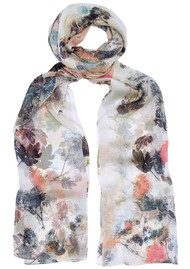 Lily and Lionel Alice Floral Print Scarf - White