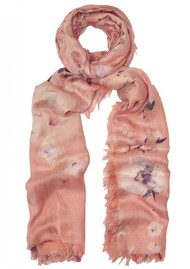 Lily and Lionel Winnie Floral Silk Scarf - Peach Nude