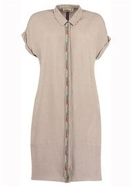 NOOKI Salma Shirt Dress - Taupe