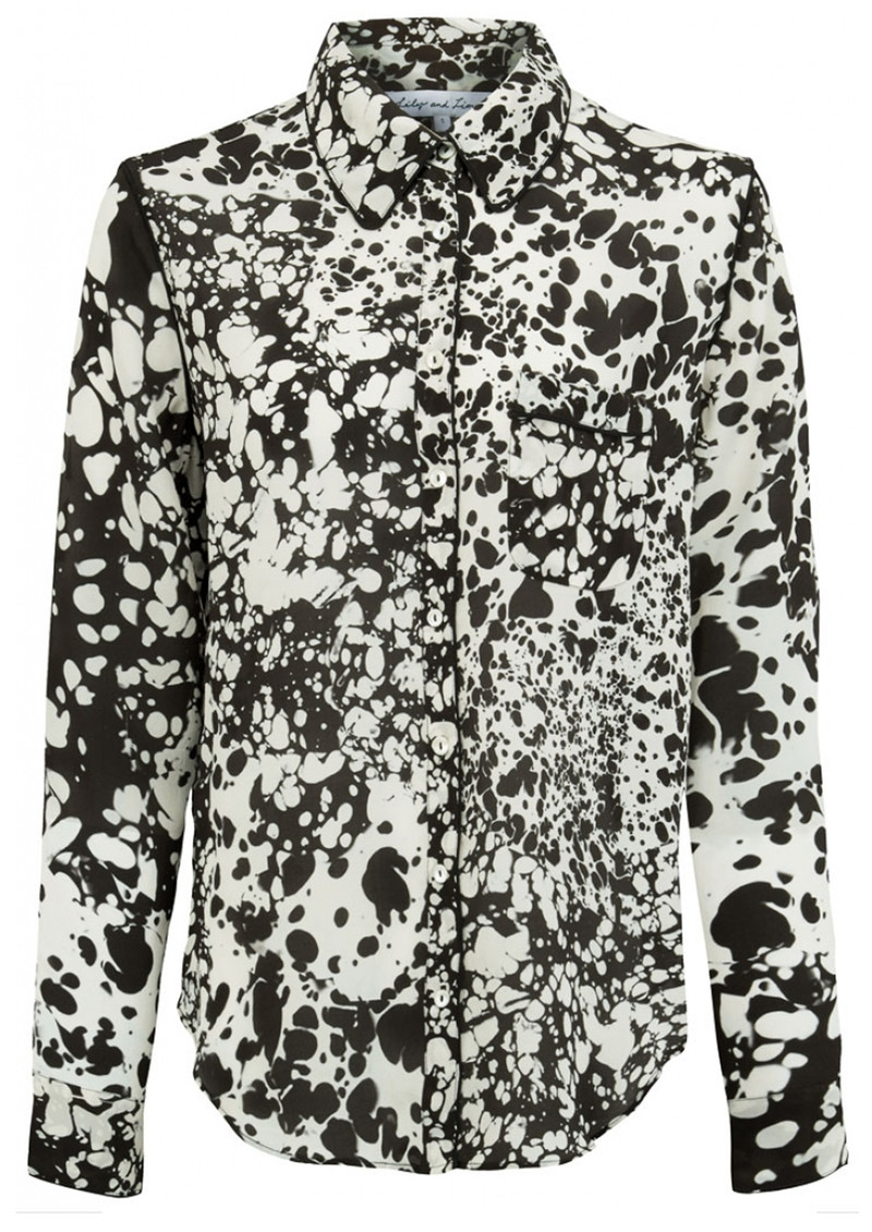 Lily and Lionel Verity Piped Classic Shirt - Monochrome main image