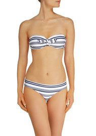 HEIDI KLEIN Marthas Vineyard Fold Over Bikini Bottoms - Stripe