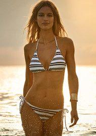 HEIDI KLEIN Marthas Vineyard Rope Side Tie Bikini Bottoms - Stripe