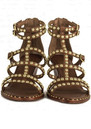 Ash Nuba Studded Sandals - Cacao