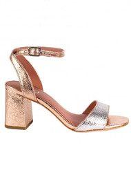 Ash Quartz Heeled Sandals - Silver & Rose Gold