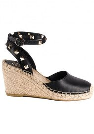 Ash Whitney Wedge Espadrille - Black