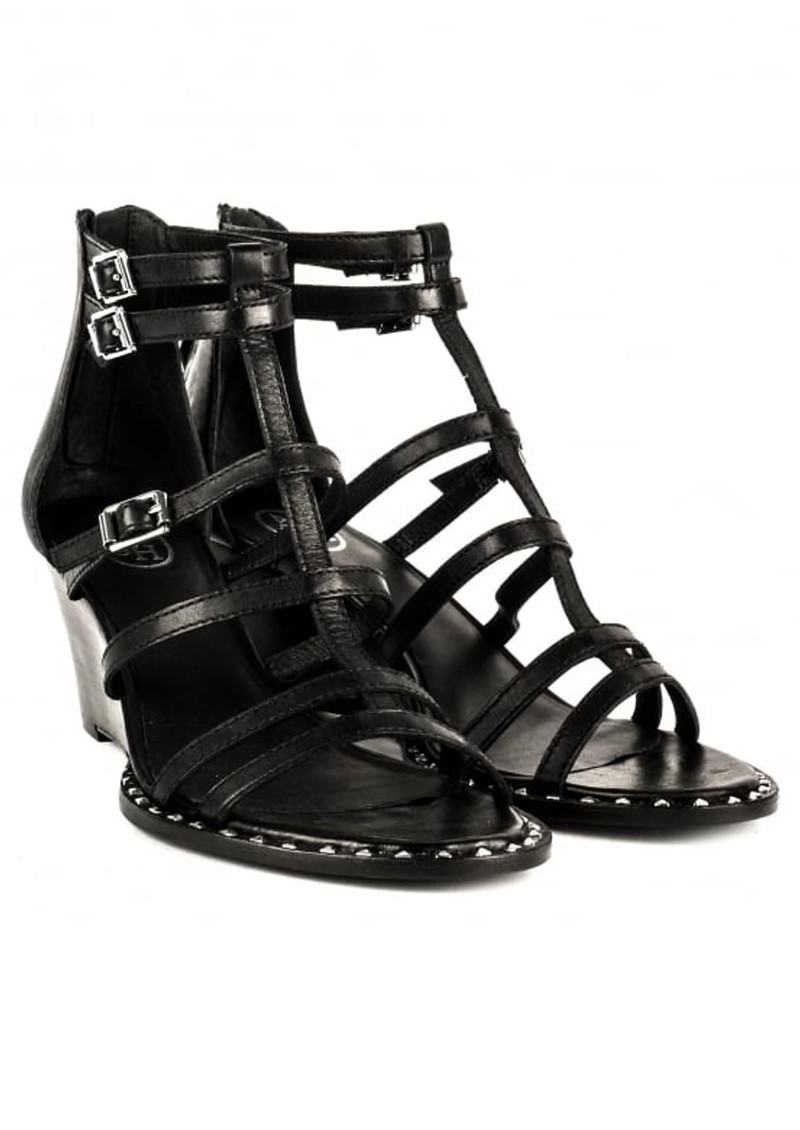 Nuba Bis Wedge Sandals - Black main image