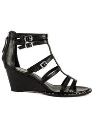 Ash Nuba Bis Wedge Sandals - Black