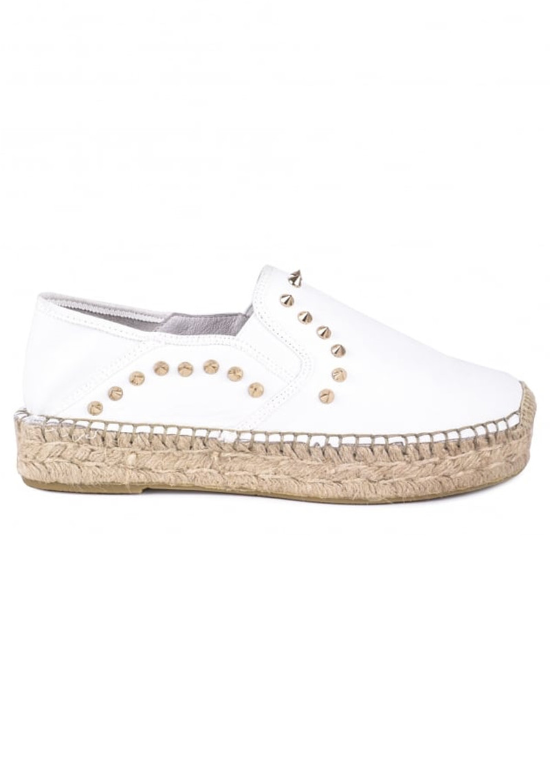 Xiao Leather Espadrilles - White main image