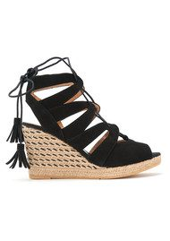 KANNA Evita Yute Wedge - Black
