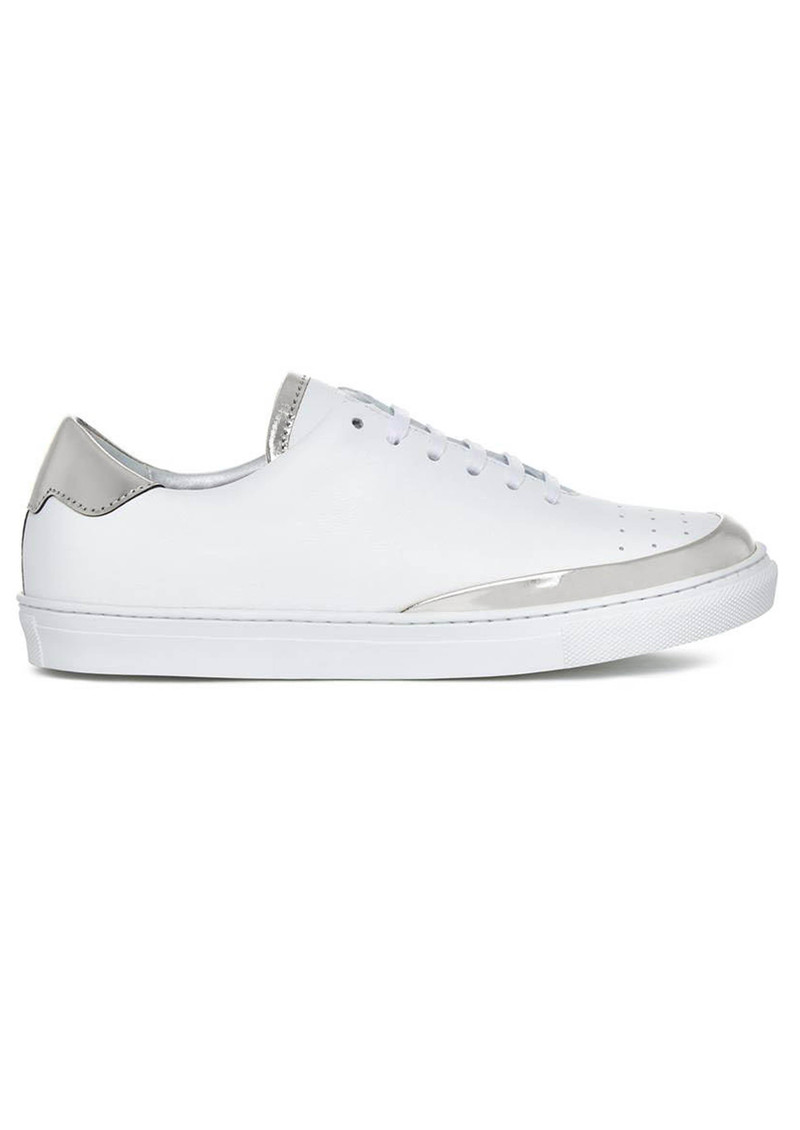 ROSE RANKIN Spike Low Top Trainers - Silver main image