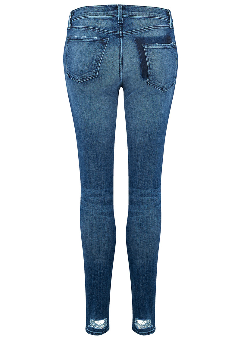 J Brand Mid Rise Super Skinny Jeans - Gone main image