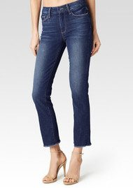 Paige Denim Jacqueline Straight Crop Jeans - Domino