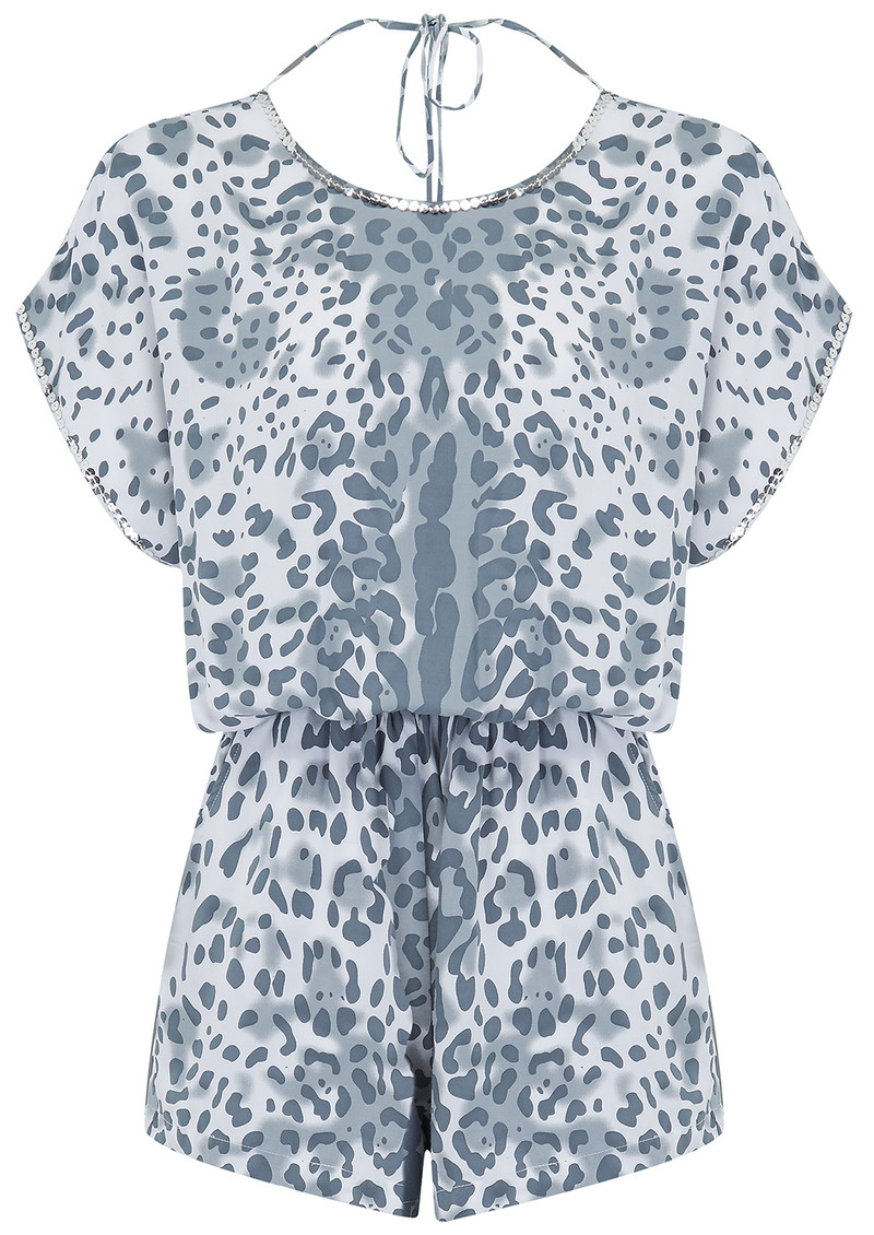 BETH AND TRACIE Jade Dalmatian Playsuit - Steel  main image