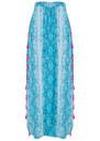 BETH AND TRACIE Jess Beach Snake Print Skirt - Ocean
