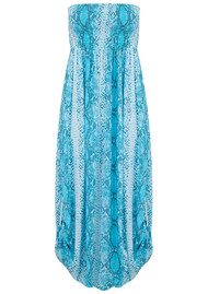 BETH AND TRACIE Emily Maxi Snake Print Dress - Ocean