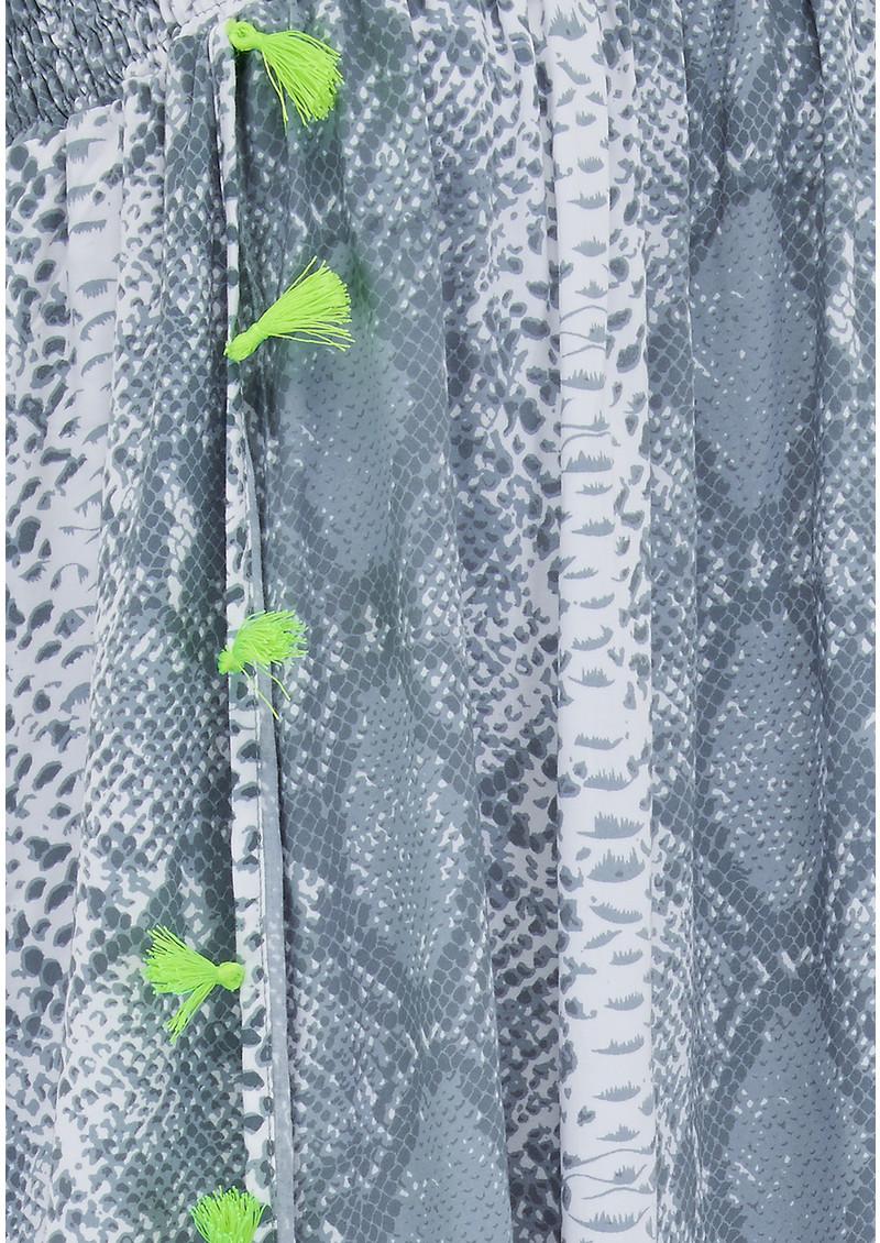BETH AND TRACIE Jess Beach Snake Print Skirt - Steel main image