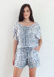BETH AND TRACIE Jade Dalmatian Playsuit - Steel