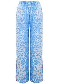 BETH AND TRACIE Jess Leopard Print Trousers - Denim Blue
