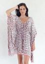 BETH AND TRACIE Topaz Leopard Print Kaftan Top - Blush