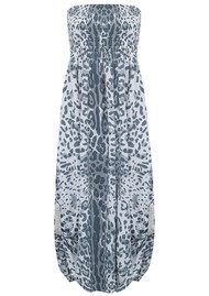 BETH AND TRACIE Emily Maxi Leopard Print Dress - Steel Grey