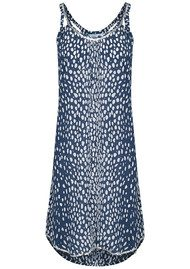 BETH AND TRACIE Kenzie Dalmatian Print Dress - French Navy