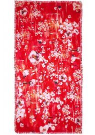 Lily and Lionel Winnie Blossom Print Scarf - Ruby