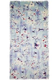 Lily and Lionel Winnie Blossom Print Scarf - Cornflower