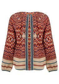 Lollys Laundry Dory Blouse - Orange Multi
