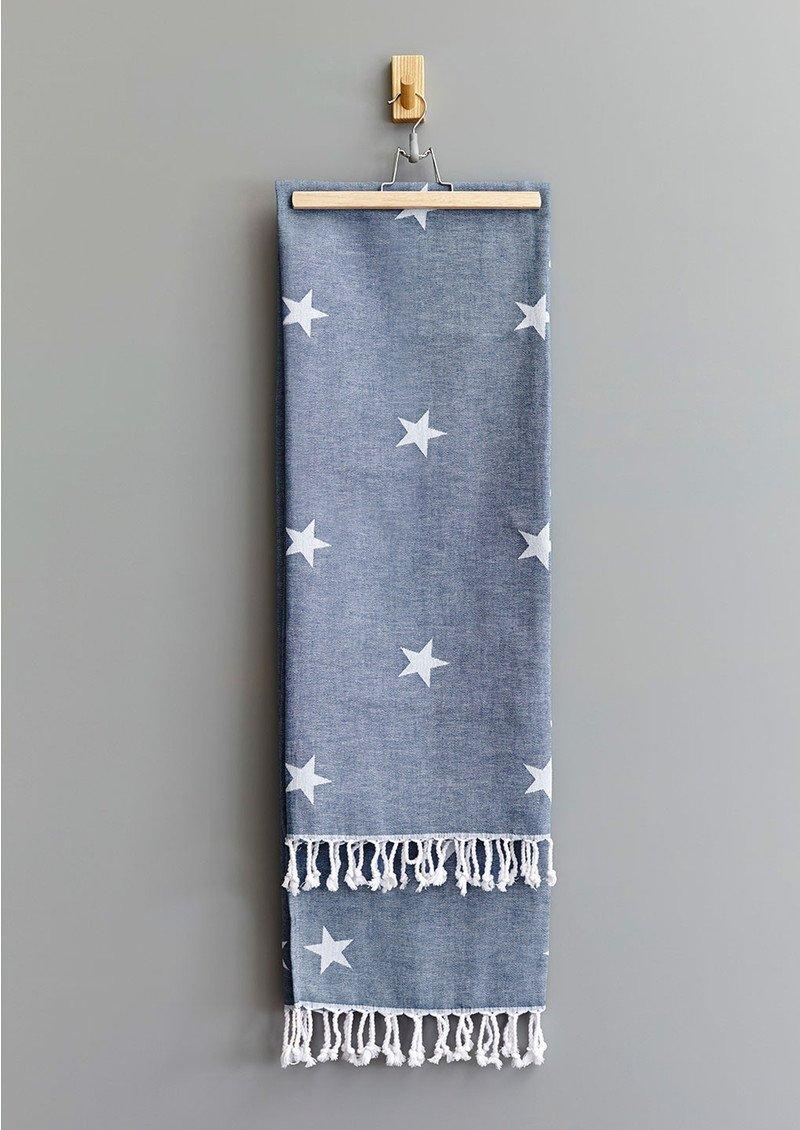 HAMMAMHAVLU Yildiz Star Towel - Indigo main image