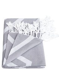 HAMMAMHAVLU Alya Exploded Star Towel - Smoke Grey