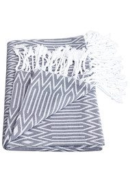HAMMAMHAVLU Nevra Ikat Towel - Washed Black