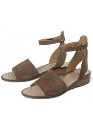 Hudson London Fifa Suede Sandals - Beige