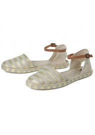Hudson London Biarritz Canvas Espadrilles - Gold