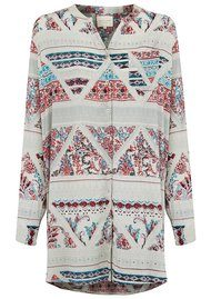 Lollys Laundry Lenora Shirt Dress - White Multi